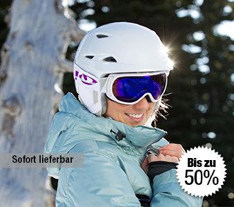 Skihelme und -brillen bis zu 50% reduziert bei outdoor-broker.de
