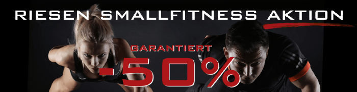Smallfitness-Aktion bei sportgigant.at - garantiert 50% Rabatt
