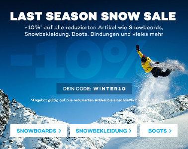 Snow-Sale bei planet-sports.de - 10% Extra-Rabatt