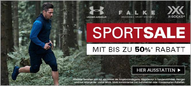 Sport-Sale mit bis zu 50% Rabatt bei asmc.de