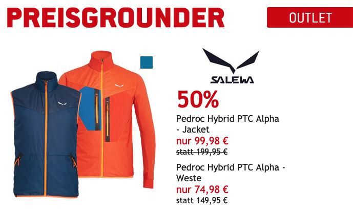 Nur heute 50% auf Salewa Pedroc Jacken